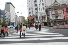 Japan Tokyo street view Royalty Free Stock Photo