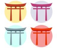 Japan-Tor Torii Tor flach shinto Lizenzfreie Abbildung