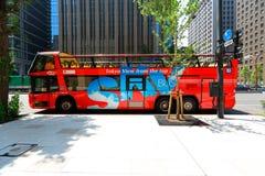 Japan: Tour bus in Tokyo Royalty Free Stock Images