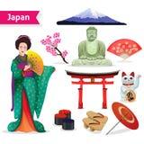 Japan Touristic Set Stock Photos
