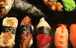 Japan traditional food. Roll's and sushi stock photos