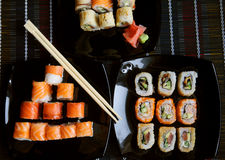 Japan traditional food. Fresh roll royalty free stock images