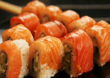 Japan traditional food - roll. Japan traditional food - different roll Stock Photo