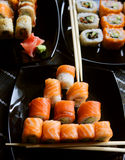 Japan traditional food - roll Stock Photos
