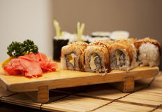 Japan traditional food - roll Royalty Free Stock Images