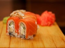 Japan traditional food - roll. Close up Stock Photography
