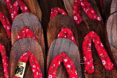 Japan traditional footwear or slipper or zori Stock Photo