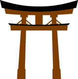 Japan traditional gate torii Royalty Free Stock Photo