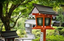 Japan traditional lamp. Kurama , Kyoto - 8 May 2015 : Japan traditional lamp in Kurama Dera Royalty Free Stock Photos