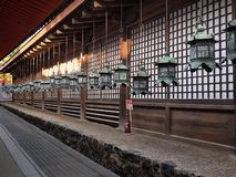 Lanterns outside of Japan traditional architecture royalty free stock images