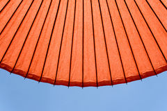 Japan traditional red umbrella Royalty Free Stock Photography