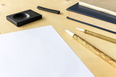 Japan traditional writing brush Royalty Free Stock Image