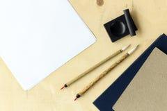 Japan traditional writing brush Stock Photo