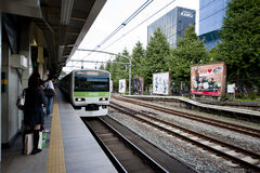 Japan  train platform Stock Photo