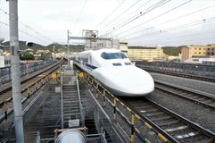Japan, a train shinkansen royalty free stock images