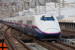 Japan Train. Shinkansen train in Tokyo, Japan Stock Images