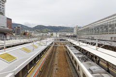 Japan train station Royalty Free Stock Images