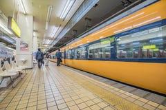 Japan train station Stock Photo