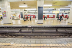 Japan train station Royalty Free Stock Photo