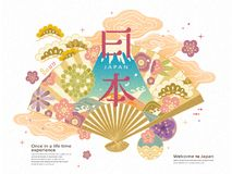 Japan travel concept illustration vector illustration