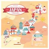 Japan travel map Stock Photos