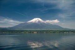 Japan travel,mt diamond fuji and snow at Kawaguchiko lake in japan,mt Fuji is one of famous place in Japan,Japanese called Fujisan vector illustration