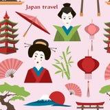 Japan travel pattern Stock Photography