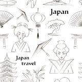 Japan travel pattern Royalty Free Stock Images