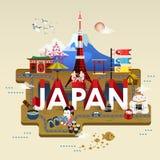 Japan travel poster Royalty Free Stock Image