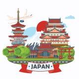 Japan travel poster - travel to Japan. Royalty Free Stock Image