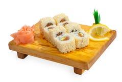 Japan trditional food - roll. Studio shot Stock Images