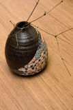 Japan Vase and Twig Royalty Free Stock Images
