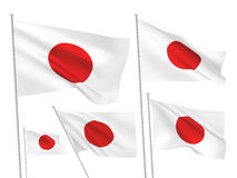 Japan vector flags Stock Photography