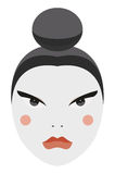 Japan. Vector Geisha face with traditional make-up Royalty Free Stock Images