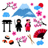 Japan vector set Stock Photography