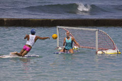 Japan Versus Hawai'i. Event:  2013 Duke Kahanamoku OceanFest Surfboard Water Polo 25.VIII.13 Stock Images