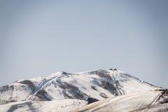 Japan vinterberg (filtrerad bilden bearbetad tappningeffekt Royaltyfri Foto