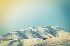 Japan vinterberg (filtrerad bilden bearbetad tappningeffekt Royaltyfria Foton