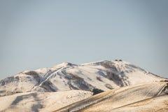 Japan vinterberg (filtrerad bilden bearbetad tappningeffekt Fotografering för Bildbyråer