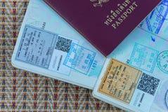 Japan visas Stock Image