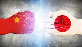 Japan vs China Royalty Free Stock Photo