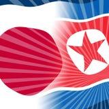 Japan Vs illustration för Nordkorea fredssamtal 3d royaltyfri illustrationer