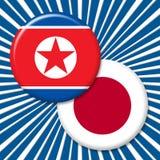 Japan Vs illustration för Nordkorea nedmontering av kärnvapensamtal 3d royaltyfri illustrationer