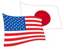 Japan Vs Nordkorea fred som möter illustrationen 3d vektor illustrationer