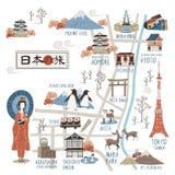 Japan walking map Royalty Free Stock Photos