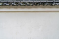 Japan Wall with old tiled roof . ,Filtered image processed vinta Stock Photos