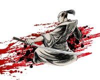Japan warrior Royalty Free Stock Photos
