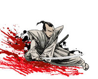 Japan warrior Royalty Free Stock Image