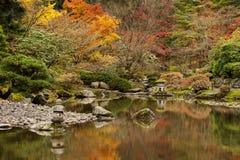 Japan Water Garden Pagoda. Stock Photo