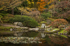 Japan Water Garden Pagoda. Stock Image